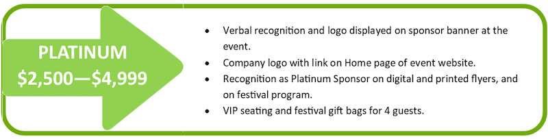 Platinum Level Sponsorship for Hope Fest 4 Hunger